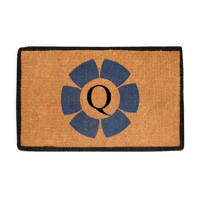 First Impression Floella Monogrammed Doormat Letter: Q