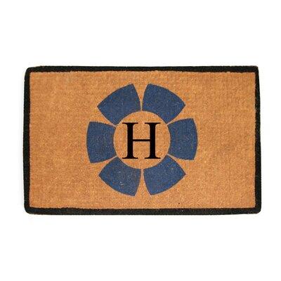 First Impression Floella Monogrammed Doormat Letter: H