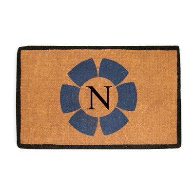 First Impression Floella Monogrammed Doormat Letter: N