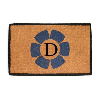 First Impression Floella Monogrammed Doormat Letter: D