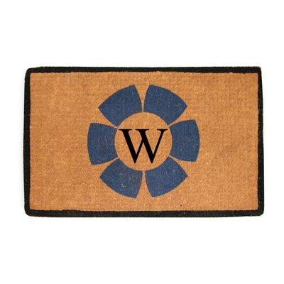 First Impression Floella Monogrammed Doormat Letter: W