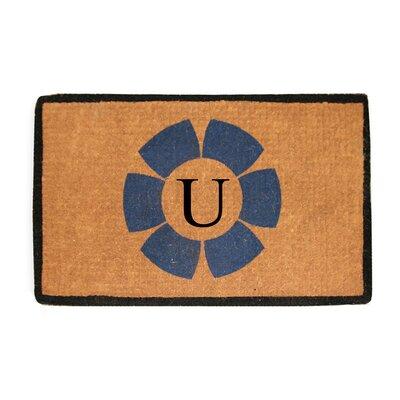 First Impression Floella Monogrammed Doormat Letter: U