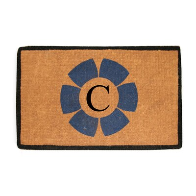 First Impression Floella Monogrammed Doormat Letter: C