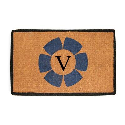 First Impression Floella Monogrammed Doormat Letter: V