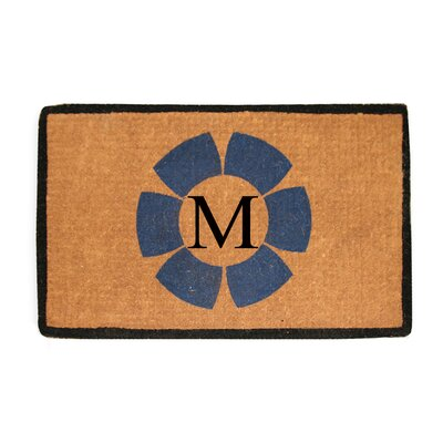 First Impression Floella Monogrammed Doormat Letter: M