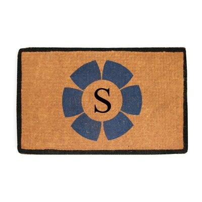 First Impression Floella Monogrammed Doormat Letter: S
