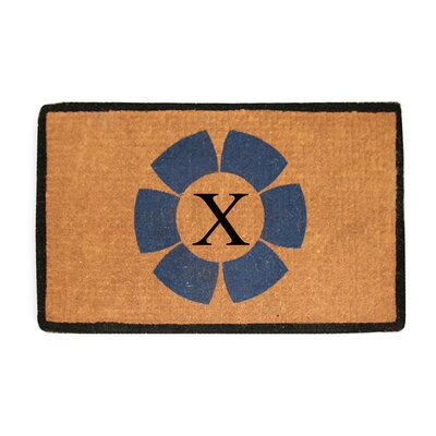 First Impression Floella Monogrammed Doormat Letter: X