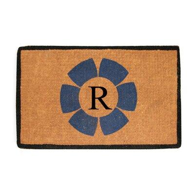 First Impression Floella Monogrammed Doormat Letter: R