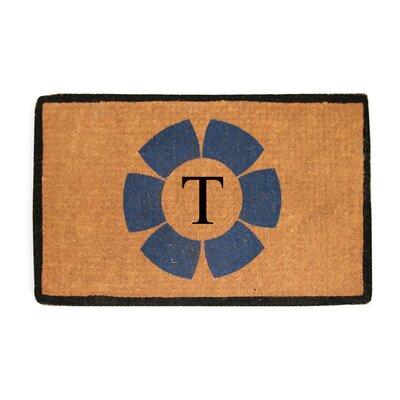 First Impression Floella Monogrammed Doormat Letter: T