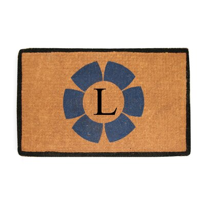 First Impression Floella Monogrammed Doormat Letter: L