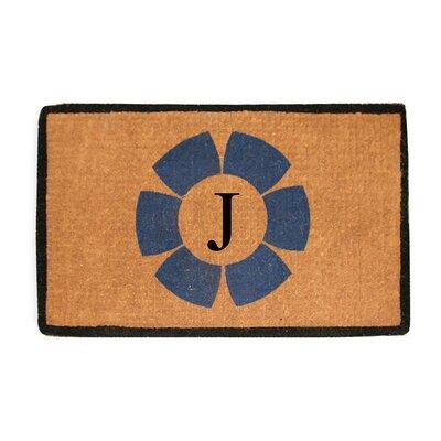 First Impression Floella Monogrammed Doormat Letter: J