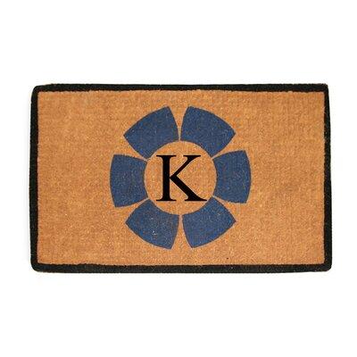 First Impression Floella Monogrammed Doormat Letter: K