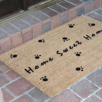 Home Sweet Home Flocked Coir Doormat