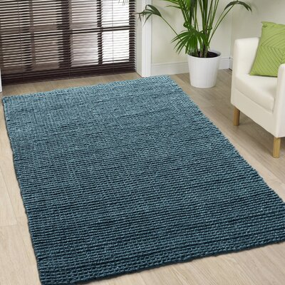 Hand-Woven Dark Gray Area Rug Rug Size: 4 x 6