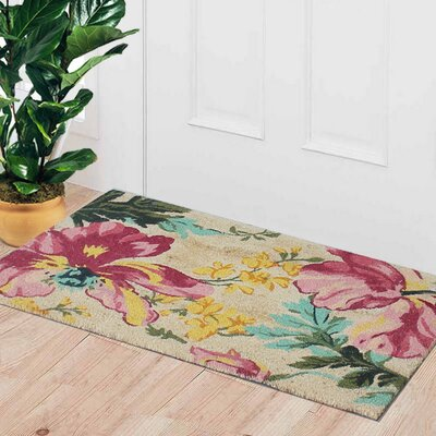 First Impression Engineered Anti Shred Treated Garington Botanical Decorative Doormat