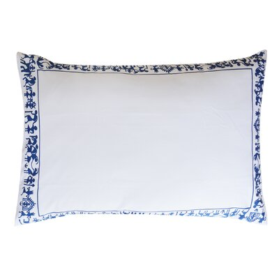 Fine Cotton Tribal Men Decorative Sham Color: Blue