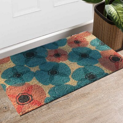 First Impression Engineered Anti Shred Treated Gardenia Floral Doormat