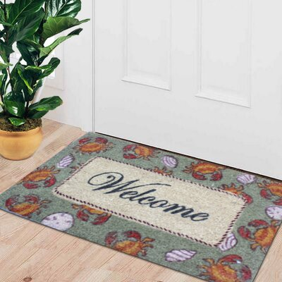 First Impression Engineered Anti Shred Treated Ayden Coral Welcome Doormat