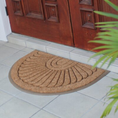 First Impression Sunburst Rubber and Coir Doormat