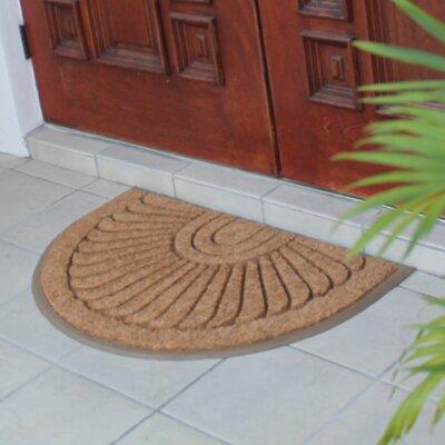 First Impression Sunburst Rubber and Coir Doormat