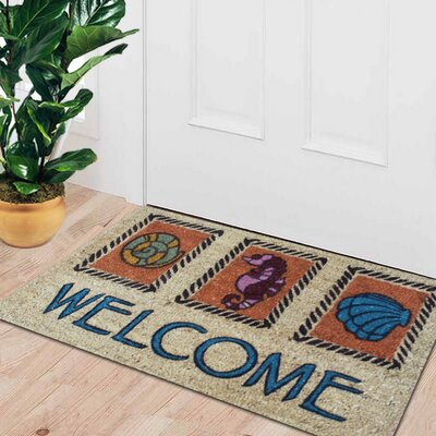 First Impression Engineered Anti Shred Eli Coral Welcome Doormat