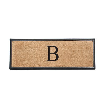First Impression Rubber and Coir Monogrammed Double Doormat Letter: B