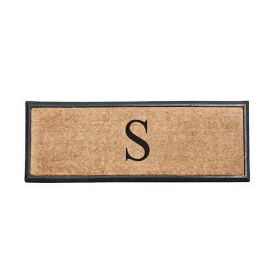 First Impression Rubber and Coir Monogrammed Double Doormat Letter: S
