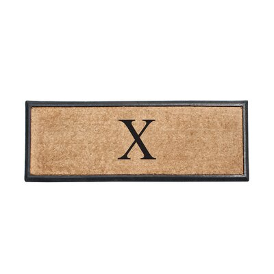 First Impression Rubber and Coir Monogrammed Double Doormat Letter: X
