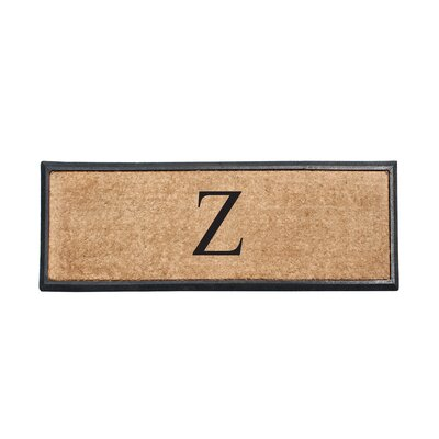 First Impression Rubber and Coir Monogrammed Double Doormat Letter: Z