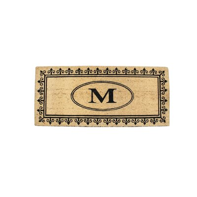 First Impression Quinton Monogrammed Coir Doormat Letter: M