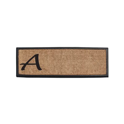 First Impression Rubber and Coir Monogrammed Double Doormat Letter: A