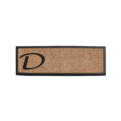 First Impression Rubber and Coir Monogrammed Double Doormat Letter: D