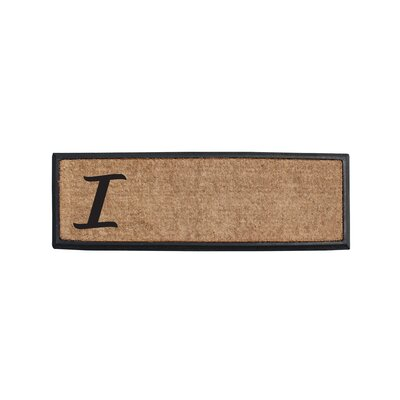 First Impression Rubber and Coir Monogrammed Double Doormat Letter: I