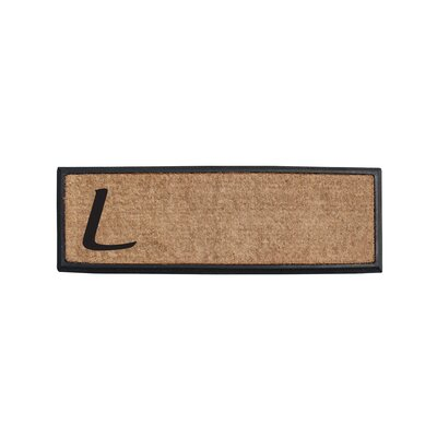 First Impression Rubber and Coir Monogrammed Double Doormat Letter: L