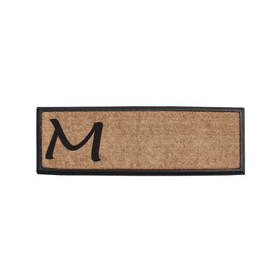 First Impression Rubber and Coir Monogrammed Double Doormat Letter: M