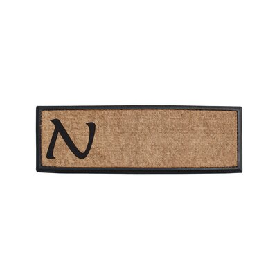 First Impression Rubber and Coir Monogrammed Double Doormat Letter: N