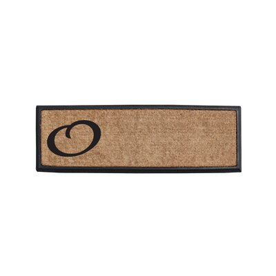 First Impression Rubber and Coir Monogrammed Double Doormat Letter: O