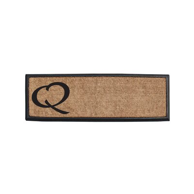 First Impression Rubber and Coir Monogrammed Double Doormat Letter: Q