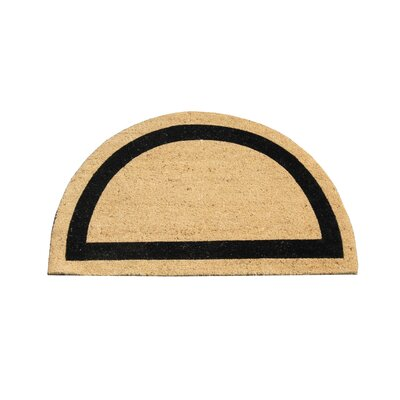 First Impression Engineered Coir Half Round Doormat
