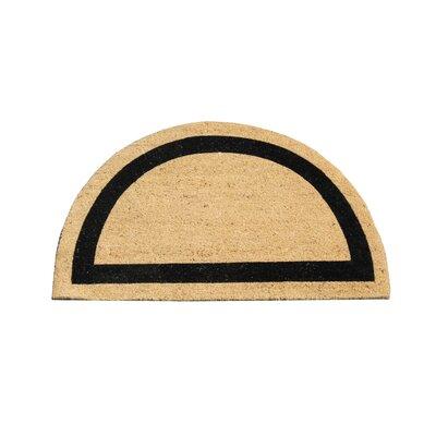 First Impression Engineered Coir Half Round Doormat
