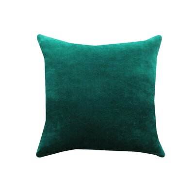 Eryn Handcrafted Designer Velvet Throw Pillow Color: Green