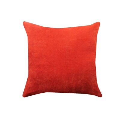 Eryn Handcrafted Designer Velvet Throw Pillow Color: Orange