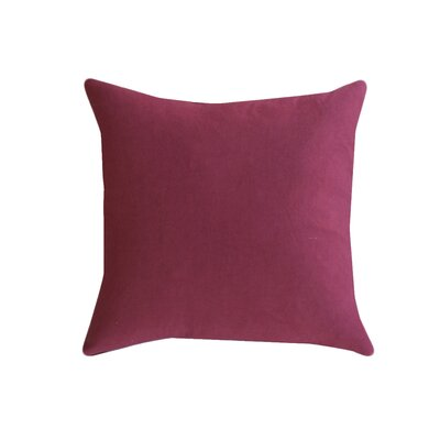 Eryn Handcrafted Designer Velvet Throw Pillow Color: Marsala