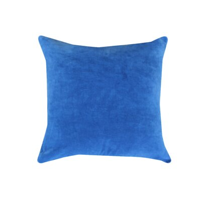 Eryn Handcrafted Designer Velvet Throw Pillow Color: Blue