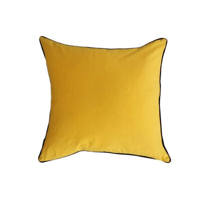 Eryn Handcrafted Designer Velvet Throw Pillow with Piping