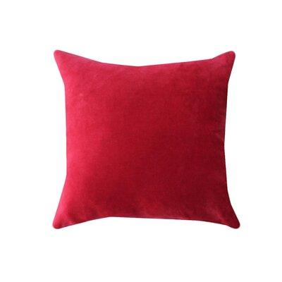 Eryn Handcrafted Designer Velvet Throw Pillow Color: Red