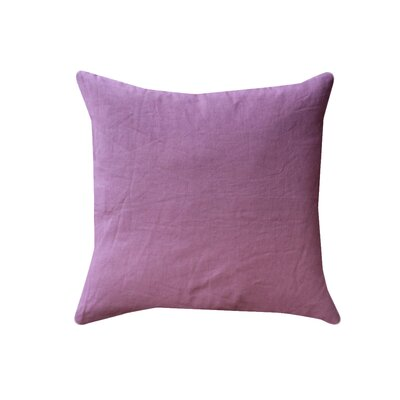 Eryn Handcrafted Designer Velvet Throw Pillow Color: Purple