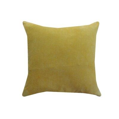 Eryn Handcrafted Designer Velvet Throw Pillow Color: Yellow