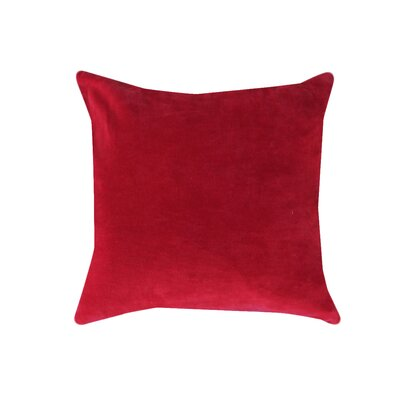 Eryn Handcrafted Designer Velvet Throw Pillow Color: Bright Red