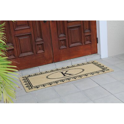 First Impression Quinton Monogrammed Coir Doormat Letter: K